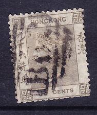 Hong Kong Reina Victoria 1865 SG19 96c Gris Marrón-Usado En Buen Estado. catálogo £ 65