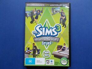 THE SIMS 3 - PC DVD CD-ROM MAC - HIGH-END LOFT STUFF - 10TH ANNIVERSARY EDITION