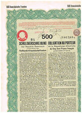 Repubblica d'Austria, Vienna 1926, SV 500 franchi francesi, issued/cancelled