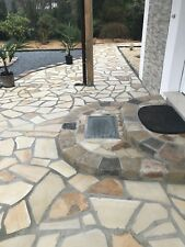 Polygonalplatten 20-25mm 20m² Naturstein Crema Toscana Terrasse