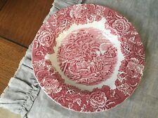 Wedgwood Pink/RED WOODLAND Enoch 10 3/4 Dinner Plate  Unicorn Backstamp