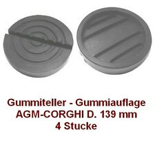 Gummiteller für Hebebühne AGM - CORGHI D. 139 mm  - Gummiauflagen -made in Italy