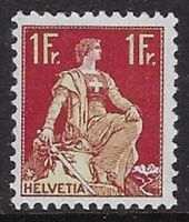 Switzerland 1918 1 Fr Helvetia w/ Sword Sc #144 MNH VF, CV $18.00 - cw77.20