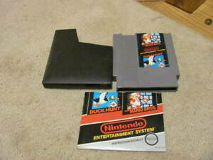 Super Mario Bros And Duck Hunt Nes Game - Tested & Works - Manual And Sleeve