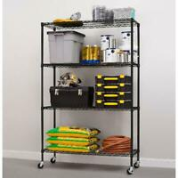 4-Tier Rolling Storage Organizer Rack Wire Shelving Unit Home Garage with Wheels