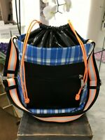 Marc Jacobs Plaid Ringer NS Shoulder Tote Crossbody Bag in Twighlight Multi $295