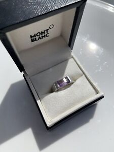 Montblanc Silver Amethyst Ring Boheme Collection Sterling Paramount Cut 56 M