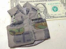 Miniature 1/6 scale U.S. US Army Armed Forces camouflage urban cam battle vest B
