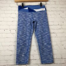 b4d7ccad404 Ivivva Rhythmic Crop Blue Quilt Space Dye Blue Pants Tight Fit Legging Girls  10