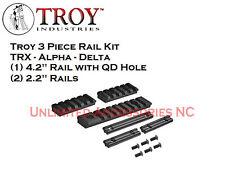 Troy Industries 3 Piece Rail Kit - Alpha Battlerail - Delta - TRX