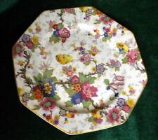 "Vintage Crown Ducal A.G. Richardson FESTIVAL Chintz Octagon Dinner Plate 9 7/8"""