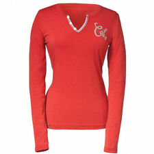 Hip Length Cotton Crew Neck Long Sleeve T-Shirts for Women