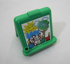 Fisher Price Little People GREEN ART EASEL for HOME HOUSE or PRESCHOOL SCHOOL