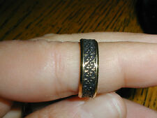 New Old Stock 18kt Yellow Gold Antiqued Wedding Band size 6.25,6.0 grams