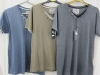 MEN'S BRAVE SOUL V-NECK T-SHIRT WITH SHORT SLEEVES ( 3 COLOURS) MTS-08FABLE