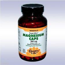 COUNTRY LIFE TARGET MINS MAGNESIUM CAPS 300 MG (120 VEGETARIAN CAPSULES)