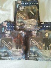 Star Trek first contact 1996 figures Lt Worf,Lily,Lt Data lot