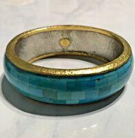 Gurhan 24K and Turquoise Bangle
