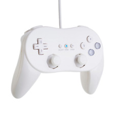 Beastron 2 Pack Controller White for Wii,classic Console Gampad Gaming Pad Pro 2