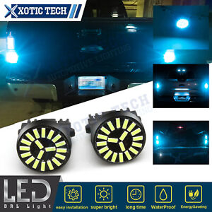 For Ford F150 F250 8000K Ice Blue 4014 SMD Back up Reverse Light 3157 LED Bulbs