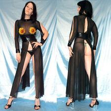 TÜLLKLEID mit Lack* Gothic Negligee * S/M * Dessous GoGo Abendkleid durchsichtig
