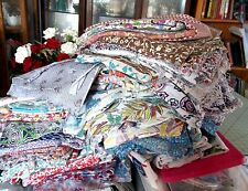 Vintage Full Feed Sacks Custom Quilt/Craft Lot of 5 Floral Prints READ BELOW