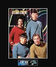 "STAR TREK TOS Bridge Crew 8"" x 10"" Photo - 11"" x 14"" Black Matted"