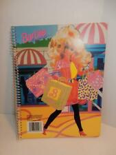 Vintage Barbie for Girls Doll Mattel 1991 NOS Notebook Shopping pink paper