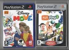 PLAYSTATION 2 -2 GIOCHI: DISNEY MOVE E EYETOY PLAY2 + videocamera originale