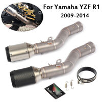 For Yamaha YZF R1 2009-2014 Exhaust System Connecting Link Pipe + Muffler Pipe