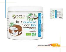 Pure Huile De Coco Naturelle  Végétale 100% Bio Extra Vierge Antioxydant 500 ML