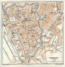 Utrecht 1914 kl. orig. stadskaart Universiteit Tivoli Vredenburg Klinicken Lucas