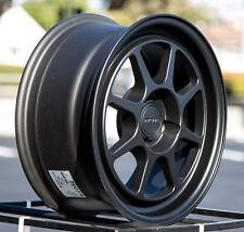 15x7 Rota HUNTER 4x100 +35 Flat Black  (Set of 4)