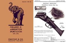 Manton 1938-1939 Firearms and Ammunition Catalog (Calcutta, India)