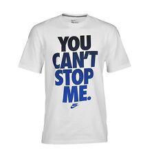 Nike You Can't Stop Me  White / Royal / Black Premium T-Shirt Size Small