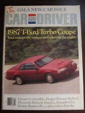 Car & Driver Magazine October 1986 Thunderbird Turbo Coupe (KK) AU