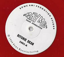 Play Me Sales Stimulator RED PROMO 45 RADIO RECORD Ritchie Dean / Blue Dolphins