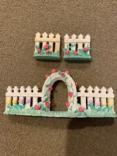 Midwest Importers Cannon Falls Mini Easter Spring White Picket Fence Set (Mg)