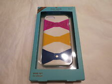 Kate Spade Iphone 7 Hardshell Snap On Case Jeweled Bow Tie Cream $45 Auth. NWT