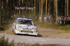 Timo Salonen Peugeot 205 Turbo 16 E2 Winner 1000 Lakes Rally 1985 Photograph 1