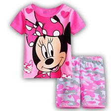 Boys Girls 2Pcs T-shirt Tops+Pants Outfit Kids Clothes Casual Loungewear Pajamas