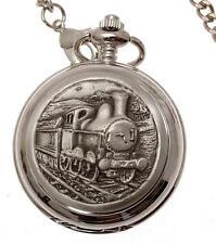 Reloj de Bolsillo tren Mecánico Doble Hunter esqueleto Diseño 65