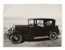 PHOTO ANCIENNE Auto Automobile Voiture Renault Peugeot Citroën ? Homme 1932