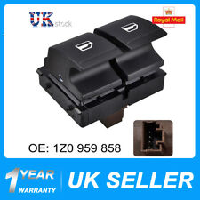 ELECTRIC WINDOW SWITCH DRIVER SIDE FOR SKODA FABIA MK2 ROOMSTER BRAND 1Z0959858