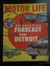 Motor Life Magazine August 1957 What's Coming in New Cars Forecast Detroit (R)