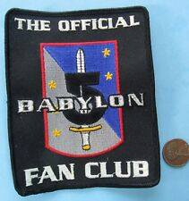 "Babylon 5 Patch vtg The Official Fan Club - 3.75"" x 4.75"""