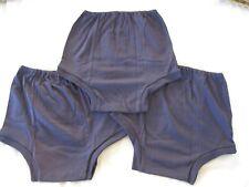 "THREE Pairs Girls REPLICA CHERUB Navy School Knickers - Size 20 (W31-34"") 07/04"