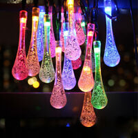 30LED Solar Powered String Light Outdoor Garden Patio Yard Landscape Party Lamp