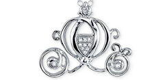 STERLING SILVER DISNEY CINDERELLA GENUINE DIAMOND CARRIAGE COACH CHARM ESTATE