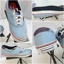 Warrior Deke Skateboard Shoes Sz 7.5 Men Light Blue Canvas NWOT YGI K7